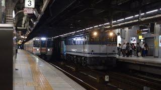 甲種輸送 EF65 2117号機+東京メトロ16000系(16134F) 名古屋駅通過