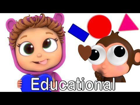 Shapes and Colors | Learn Shapes | Learn Colors | Nursery Rhymes | Kids' Songs