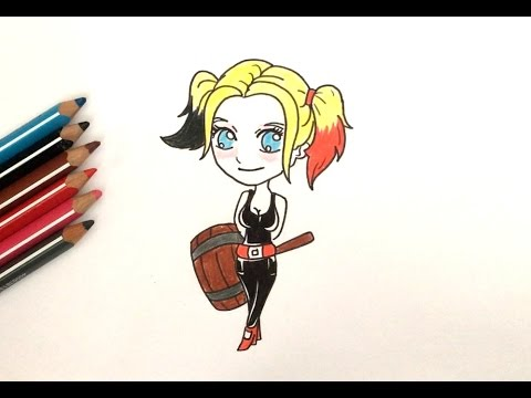 How To Draw Harley Quinn Chibi