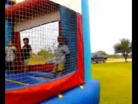Thumbnail: Kid goes flying in bounce house