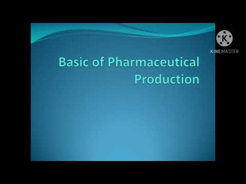 Basic of Pharmaceutical production.  Life Sciences industry (Part-1)