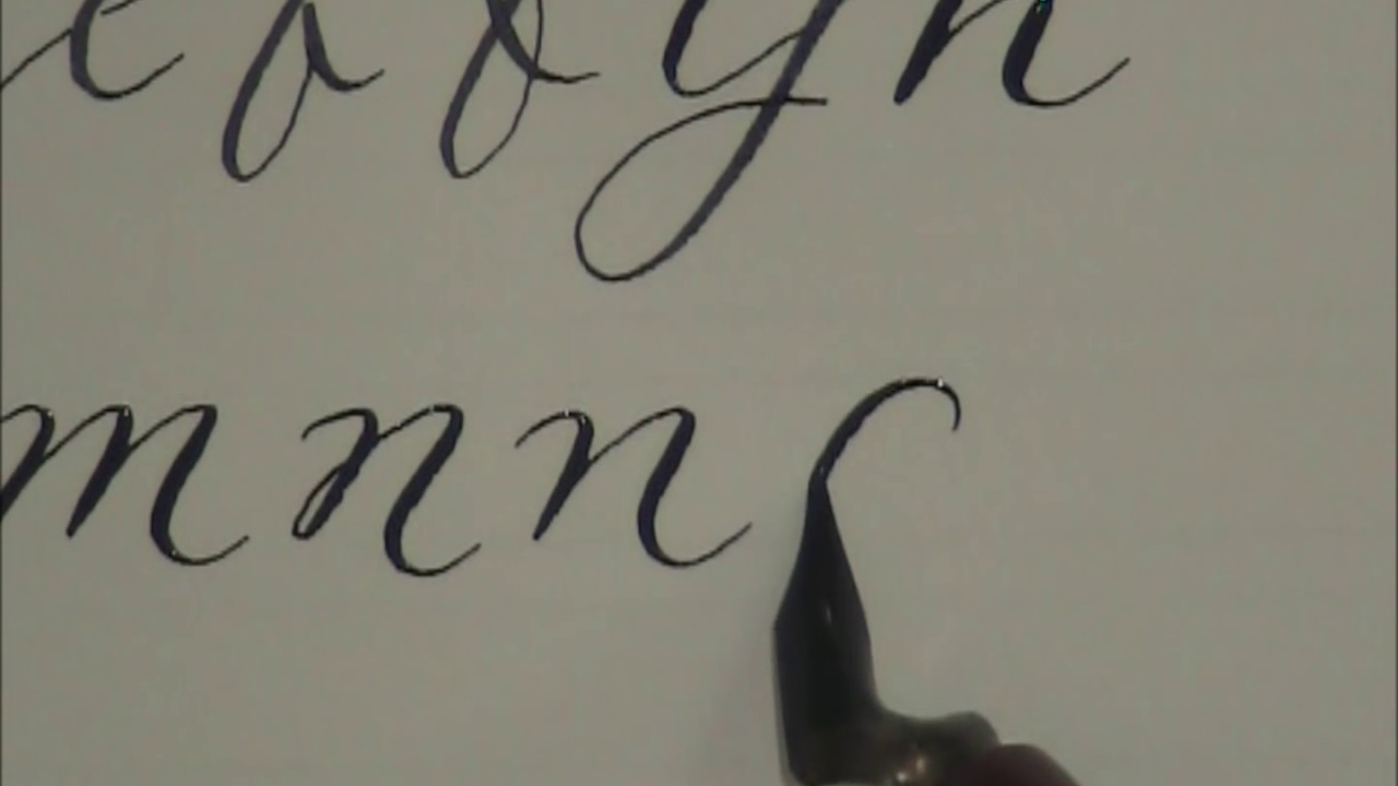 Modern calligraphy how to write in calligraphy for Calligraphy youtube