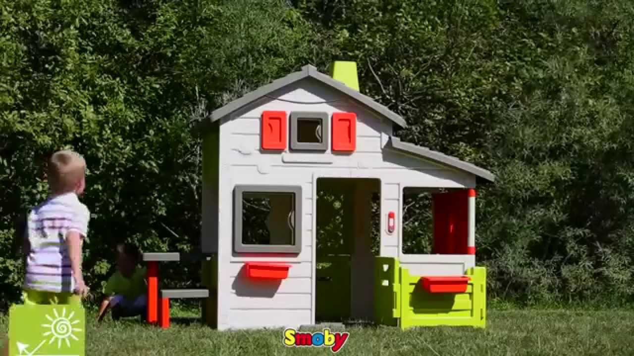 smoby outdoor childrens friends house playhouse kids uk youtube. Black Bedroom Furniture Sets. Home Design Ideas
