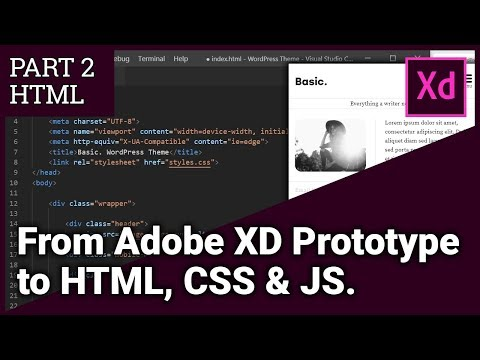 From Adobe XD Prototype To HTML, CSS & JS - Part 2 HTML