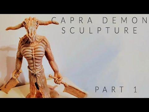 Sculpting the Capra Demon - Dark Souls (Polymer clay - Part 1)