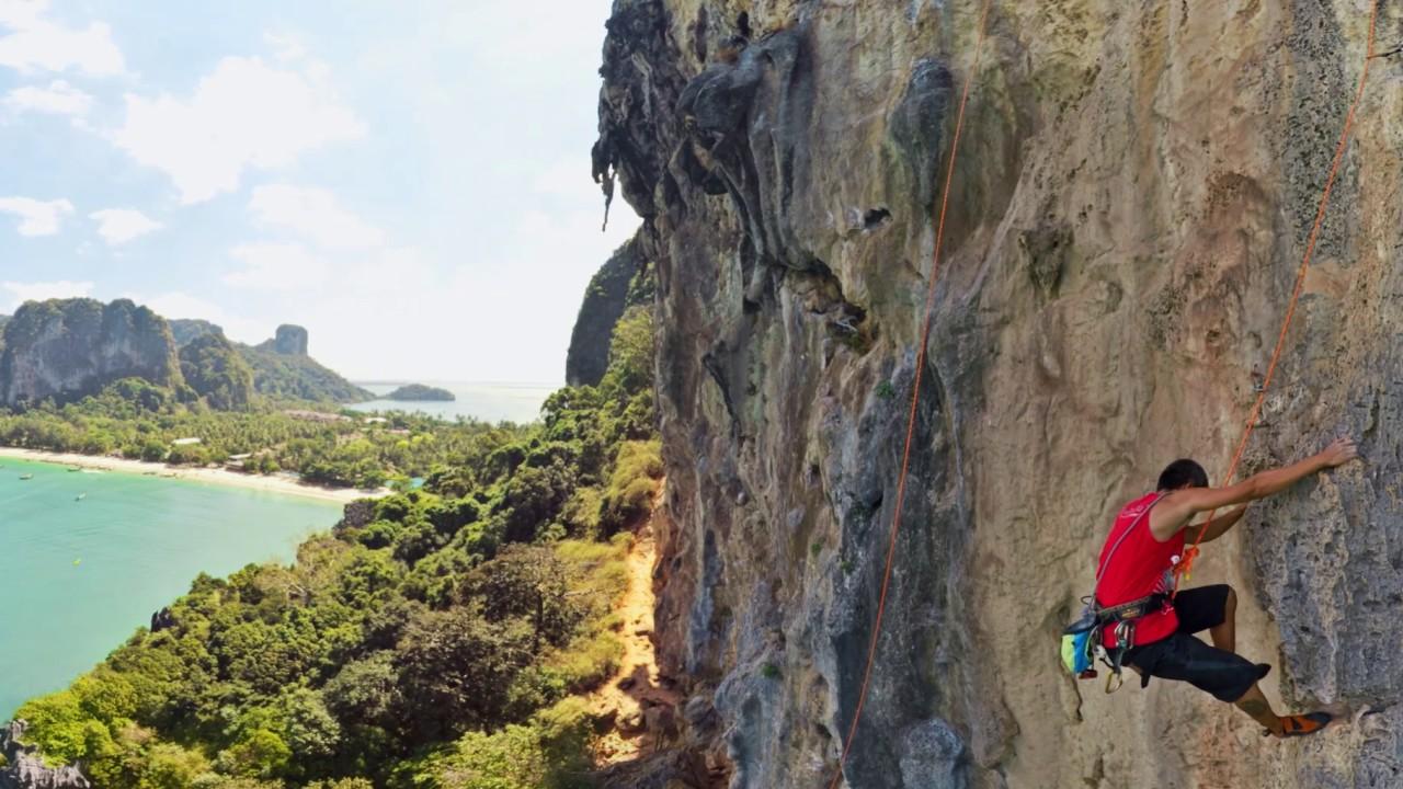 vr 360 mountain climbing at railay beach krabi youtube