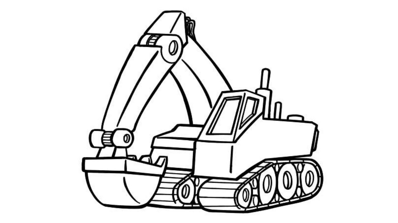 excavator coloring pages How to Draw Excavator Truck Coloring Pages, Truck Colors for Kids  excavator coloring pages