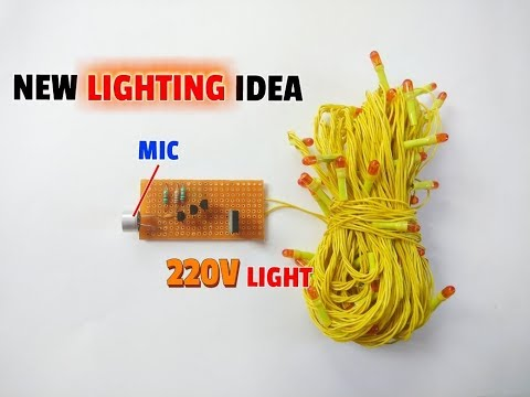 Musical Lighting..Simple Music Reactive 220V Light Circuit..Lighting Idea..