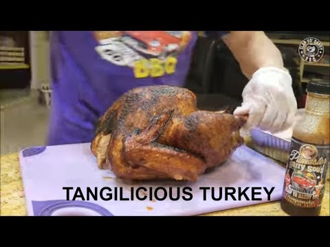 Tangilicous Thanksgiving Turkey BBQ Smoked by Grand Champion Harry Soo to SlapYoDaddyBBQ.com How-to