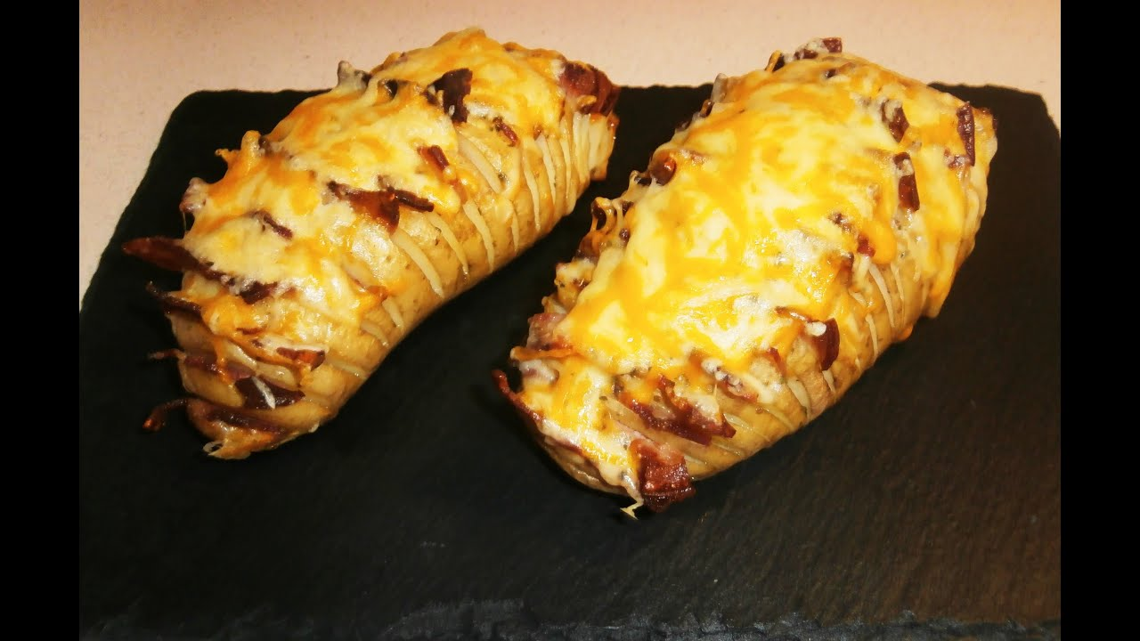 Patatas hasselback con beicon y queso 21 youtube - Bacalao con garbanzos y patatas ...