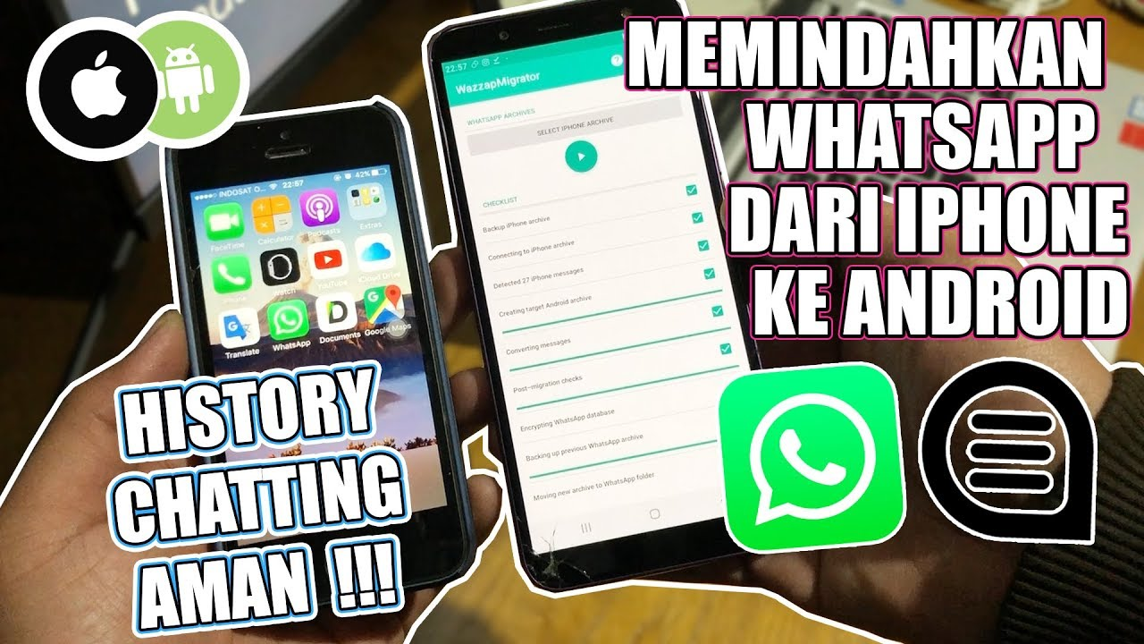 "SHARING#1 ""Cara Memindahkan Whatsapp dari iPhone ke Android""  HISTORY  CHAT AMAN !!!"