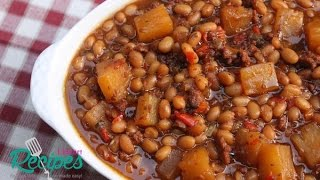 How to make Brown Sugar and Pineapple Baked Beans - I Heart Recipes