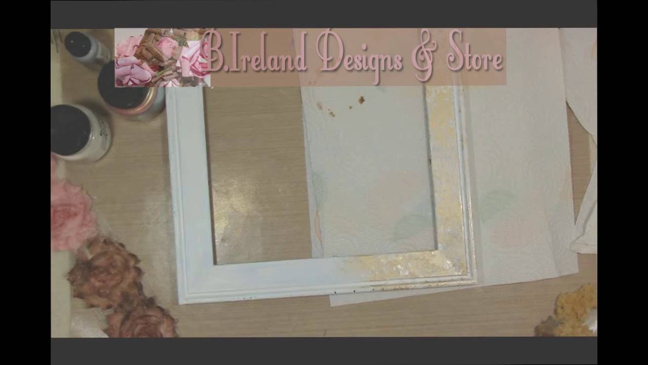 How to Make A Frame Look Vintage - YouTube