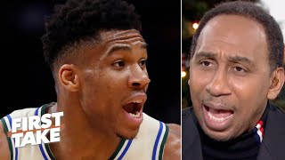 Stephen A. marvels at Giannis' transformation, calls out Joel Embiid | First Take