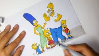 Drawing The Simpsons - Flex and Copic markers