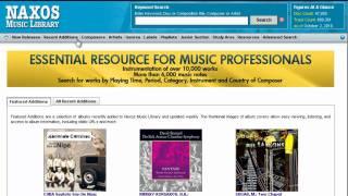 Naxos Music Library Tutorial: Einführung Eigenschaften und Funktion...