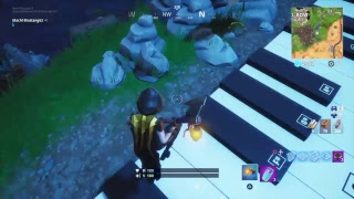 Darth Vader song on piano on Fortnite
