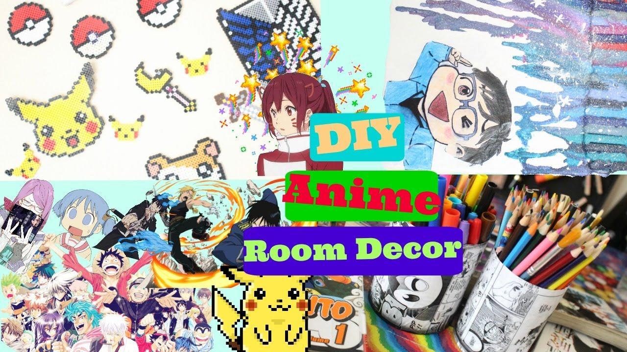 DIY Anime Room Decor|How To Make Anime Room Decor - YouTube