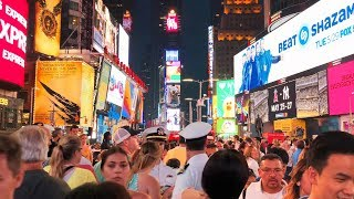 Night Walking Tour of Times Square Midtown Manhattan, New York City 【4K】🇺🇸