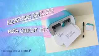 ADDRESSING ENVELOPES with CRÏCUT JOY
