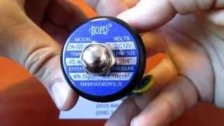 Клапан Электромагнитный 12 Вольт - 1/4 дюйма модель 2W-025-08 Соленоид  - Закрытый(Электромагнитный клапан (соленоид) с диаметром ¼ дюйма, для контроля за проходящей жидкостью. Используется..., 2015-07-26T12:53:44.000Z)