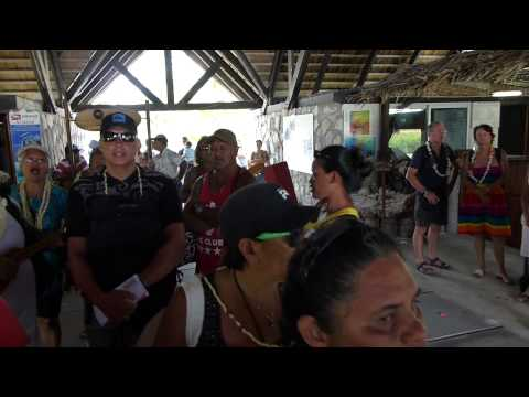 Tahitian Locals Singing While Waiting at the Airport