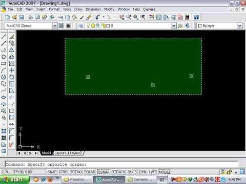 Autocadის ვიდეო გაკვეთილები წერტილი Point