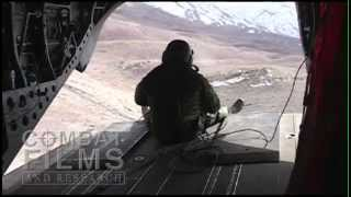 CH-47 Tail Gunner Engages Enemy