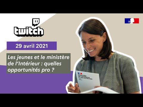 faceCam' Twitch 29/04 I Les jeunes et le ministère de l'Intérieur : quelles opportunités pro ?