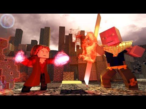 Avengers Endgame Scarlet Witch VS Thanos Minecraft Animation