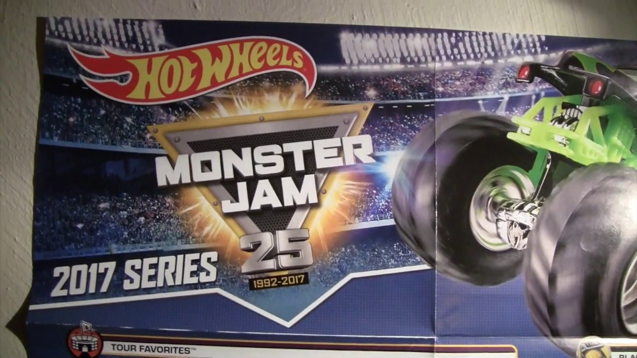 Hot Wheels Monster Jam Series 2017 Truck List Youtube