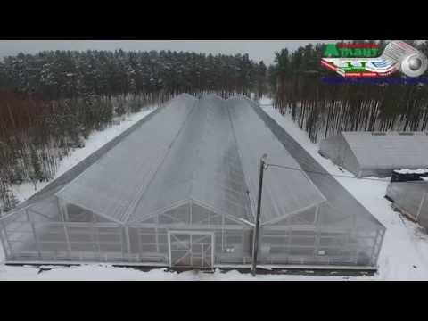 Промышленные теплицы Атлант зимние условия эксплуатации блочных теплиц из поликарбоната