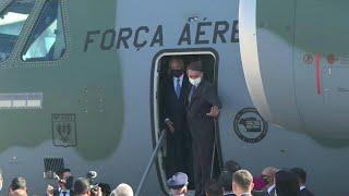 Brazil's Bolsonaro, Temer inspect plane headed to Lebanon   AFP
