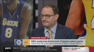 ESPN report: NBA postpones tomorrow's Clippers-Lakers