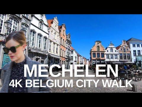 [4K] The city of Mechelen, Antwerp, Belgium virtual walk with natural sounds