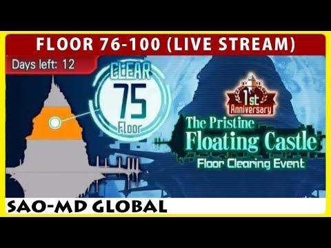 The Pristine Floating Castle Floor 76-100 Live Stream (Sword Art Online Memory Defrag)