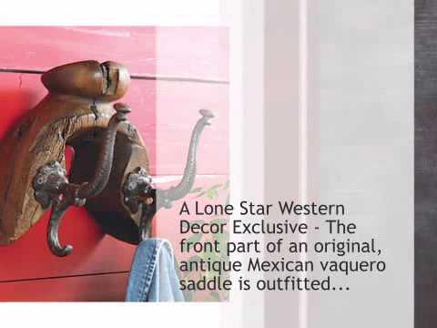 Antique Saddle Tree Coat Rack - Lonestarwesterndecor.com