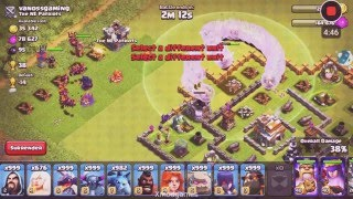 Clash Of Clans 999 OF EVERY TROOP ATTACK INSANE!!!!