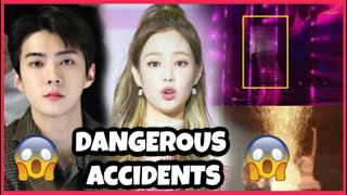 KPOP IDOLS : DANGEROUS ACCIDENTS ON STAGE  [2020] - BTS BLACKPINK TWICE EXO