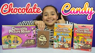 Chocolate Candy Picture Maker | D I Y - Shopkins Chocolate Picture - Candy & Sweets Review