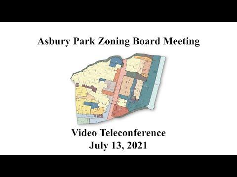 Asbury Park Zoning Board Meeting - July 13, 2021
