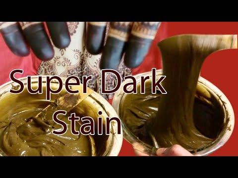 HOW TO MIX NATURAL HENNA MEHNDI PASTE FOR DARK STAIN / خلطة الحناء من أجل لون غامق