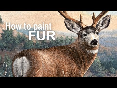 Realistic Painting Tips - How to Paint FUR