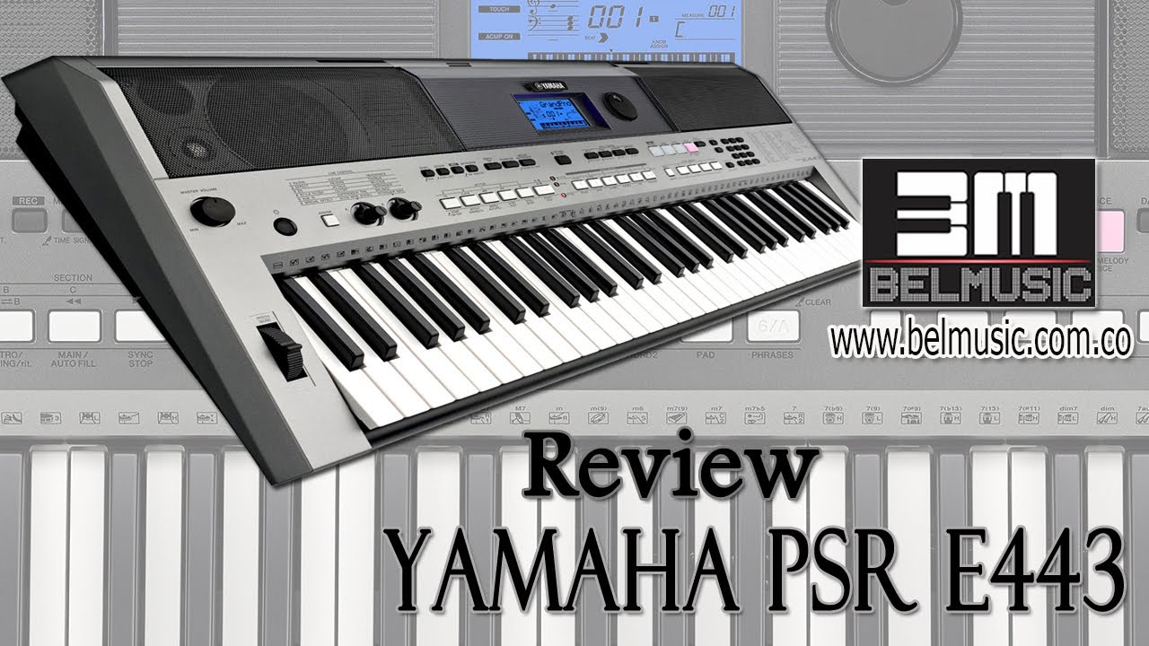 yamaha psr e443 review en espa ol youtube. Black Bedroom Furniture Sets. Home Design Ideas