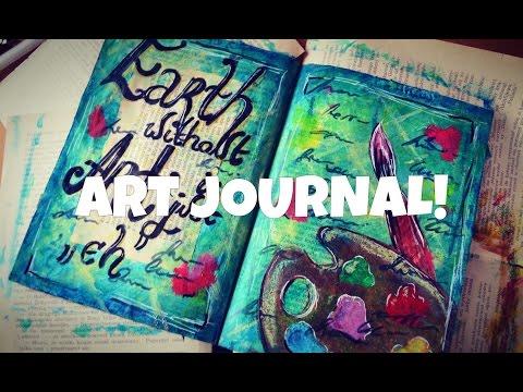 Art Journal z użyciem KREDEK GELATOS!