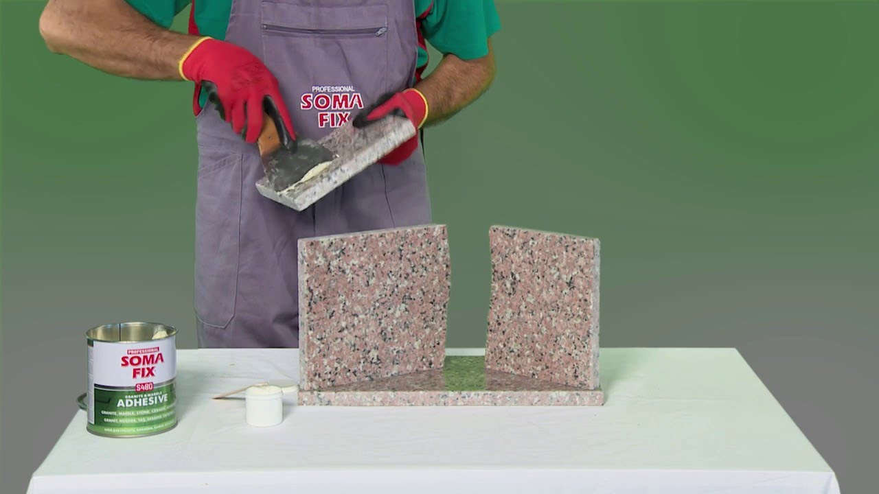 Best Glue For Stone : Somafix marble and granite adhesive youtube
