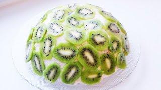 торт Нежность с кусочками фруктов