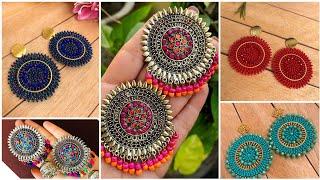 Handmade beaded earrings stud earrings designs Gold earrings with pearl
