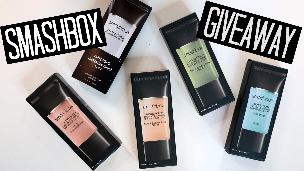 Smashbox Photo Finish Primers Giveaway Review Youtube