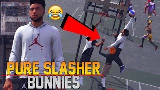 Pure Slasher Has His HEAD AT THE RIM! Windmill Alley-Oops! NBA 2K18 MyPark Gameplay